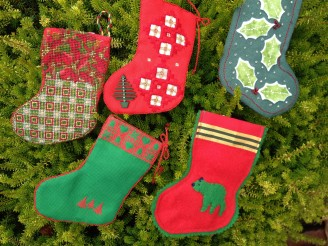 Just a sampling of the beautiful stockings the guild made!!!